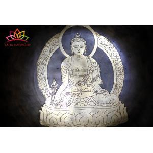 シンギングボウル 25cm 薬師如来(超美音)[HB170300-25A] シンギングボール セラピー  ヨガ 瞑想|tara-harmony