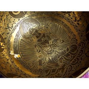 シンギングボウル 31cm グリーンターラ菩薩(超美音) [SB190499-31E] シンギングボール セラピー ヒーリング 癒し|tara-harmony|02