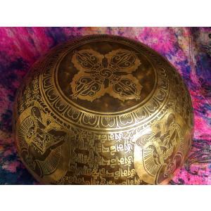 シンギングボウル 31cm グリーンターラ菩薩(超美音) [SB190499-31E] シンギングボール セラピー ヒーリング 癒し|tara-harmony|03