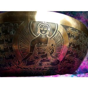 シンギングボウル 31cm グリーンターラ菩薩(超美音) [SB190499-31E] シンギングボール セラピー ヒーリング 癒し|tara-harmony|04
