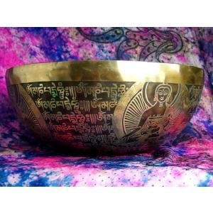 シンギングボウル 31cm グリーンターラ菩薩(超美音) [SB190499-31E] シンギングボール セラピー ヒーリング 癒し|tara-harmony|05