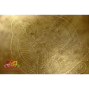 シンギングボウル 29cm ホワイトターラ菩薩(超美音)チャーミング♪ [SB190502-29A] シンギングボール セラピー ヒーリング 癒し|tara-harmony