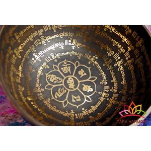 シンギングボウル 24cm マントラ(超美音)【ソルフェジオ周波数852Hz検出!】 [SB190503-24D] シンギングボール セラピー 癒し 瞑想|tara-harmony