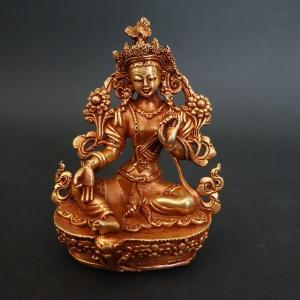 【仏像】緑多羅菩薩(グリーンターラ) 観音菩薩 小さな仏像 8.5cm【送料無料】|taradou