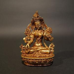 【仏像】白多羅菩薩(ホワイトターラ) 観音菩薩 小さな仏像 8.5cm【送料無料】|taradou
