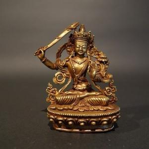 【仏像】文殊菩薩(妙吉祥菩薩)小さな仏像 8.5cm【送料無料】|taradou