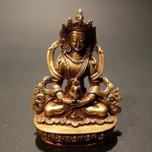 【仏像】阿弥陀如来(アミターバ・アミターユス) 菩薩形 小さな仏像 8.5cm【送料無料】|taradou