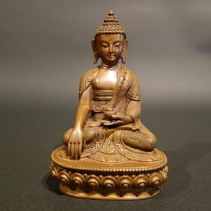 【仏像】釈迦如来 銅製 彫金仕上げ 10.5cm【送料無料】|taradou