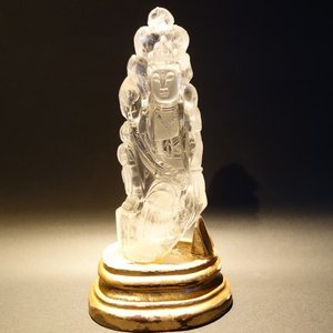 【仏像】観音菩薩(観世音菩薩・観自在菩薩) 水晶 15.5cm【送料無料】|taradou