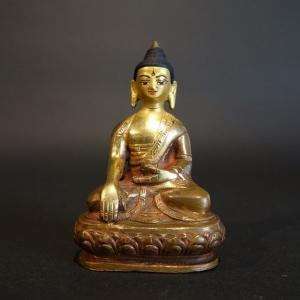 【仏像】釈迦如来 銅製 小さな仏像 9cm|taradou