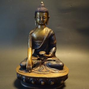 【仏像】釈迦如来 特別彫金仕上げ 20cm【送料無料】|taradou