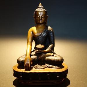 【仏像】釈迦如来 彫金仕上げ 14cm【送料無料】|taradou