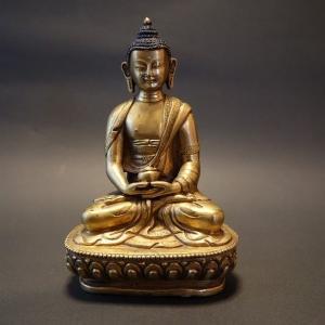 【仏像】阿弥陀如来(アミターバ・アミターユス) 鍍金 彫金仕上げ【送料無料】|taradou