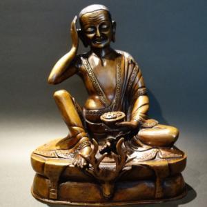 【仏像】ミラレパ 銅製 19cm【送料無料】|taradou
