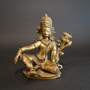【仏像】帝釈天 鍍金彫金仕上げ 小さな仏像 9c...の商品画像