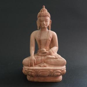 【仏像】釈迦如来 木彫り仏像 16cm【送料無料】|taradou