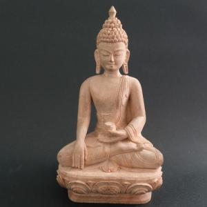 【仏像】釈迦如来 木彫り仏像 15cm【送料無料】|taradou