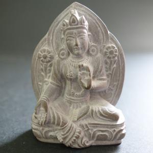 【極小仏像】緑多羅菩薩(グリーンターラ)石製 5.5cm【送料無料】|taradou