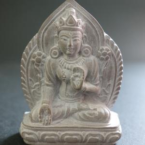【極小仏像】白多羅菩薩(ホワイトターラ)石製 5.5cm【送料無料】|taradou