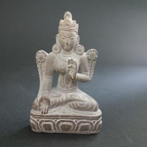 【仏像】白多羅菩薩(ホワイトターラ)石製 小さな仏像 8.5cm【送料無料】|taradou
