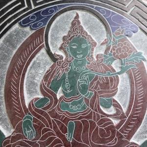 【壁掛け】緑多羅菩薩 (グリーンターラ) 石製|taradou