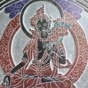 【壁掛け】白多羅菩薩 (ホワイトターラ)石製|taradou