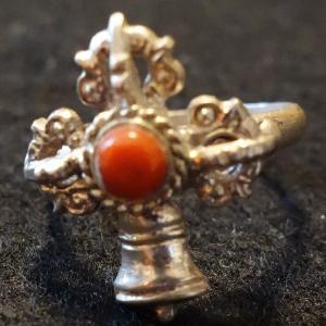 【天然石・アクセサリー】五鈷杵と五鈷鈴 指輪 サンゴ19号|taradou