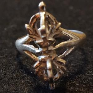 【天然石・アクセサリー】五鈷杵 指輪 銀(シルバー)16号|taradou
