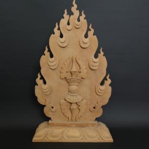 五鈷杵(ヴァジュラ・金剛杵)密教法具 木製 39cm【送料無料】|taradou