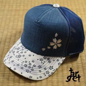 tch-1777 桜刺繍メッシュキャップ  [target]|target-store