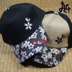 tch-1796 桜刺繍メッシュキャップ  [target]|target-store