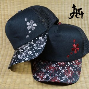 tch-1881 糸菊に桜メッシュキャップ  [target] |target-store