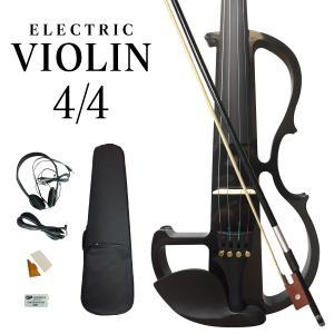 電子バイオリン エレキヴァイオリン エレキバイオリン バイオリン 4/4 初心者入門セット