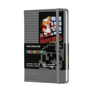 スーパーマリオ 限定版 NESカートリッジ ノートブック ポケット 罫線 モレスキン LESMMM710NC 可の商品画像|ナビ