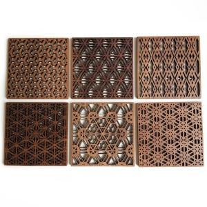 サイズ:100×100×4(mm) セット:6個 素材:ウォールナット(耐水加工済み) 生産/デザイ...