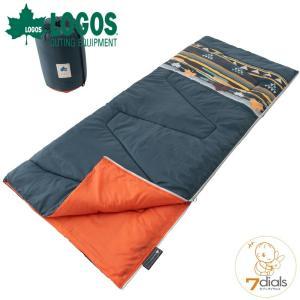 LOGOS/ロゴス 丸洗い寝袋 リバーシブル・5(ダークグリーンナバホ)シュラフ 封筒型寝袋 同じ寝袋と簡単に連結可能 表地には撥水加工を施したモイスポリ|tasukurashi