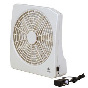 LOGOS/ロゴス 2電源・どこでも扇風機(AC・電池)AC電源、乾電池で使用可能な2段階風量のコンパクト扇風機 アウトドアで使える扇風機|tasukurashi
