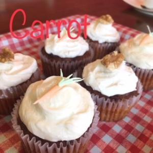 カップケーキ「キャロット6個セット」タタノアカップケーキTATANOACUPCAKE|tatanoacupcake
