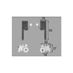LIXIL/TOSTEM 窓サッシ用部品 戸車 網戸:戸車振れ止め(テラス:2枚建て)ABYB521 リクシル トステム|tategushop