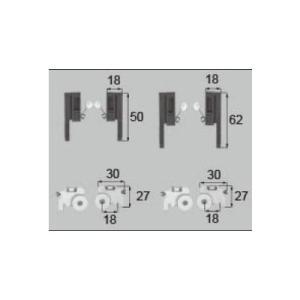 LIXIL/TOSTEM 窓サッシ用部品 戸車 網戸:戸車振れ止め(テラス:2枚建て、ランマ付き)ABYB531 リクシル トステム|tategushop