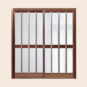 玄関引戸 菩提樹 2枚建戸ランマ無 普通枠 211型(三本格子)ブロンズ 6163 W1891*H1847 LIXIL/リクシル アルミサッシ|tategushop