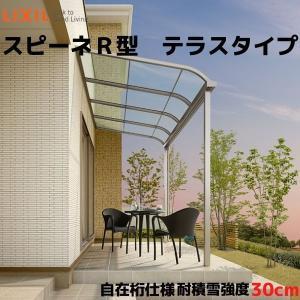 テラス屋根 スピーネ リクシル 1.5間 間口2730×出幅885mm テラスタイプ 屋根R型 耐積雪対応強度20cm 自在桁 リフォーム DIY|tategushop