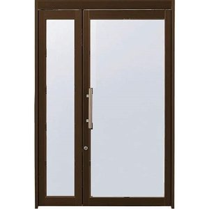 YKKap 店舗ドアDX 親子 全面ガラス 押棒 ランマ無 W1350xH2000mm アルミサッシ 事務所ドア 汎用ドア tategushop