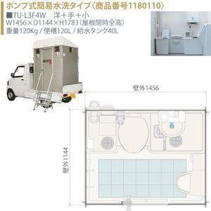 車載トイレ TU-L3F4W Lシリーズ ポンプ式簡易水洗タイプ 車載トイレ/洋+手+小 ハマネツ [北海道・沖縄・離島・遠隔地への配送要ご相談]|tategushop