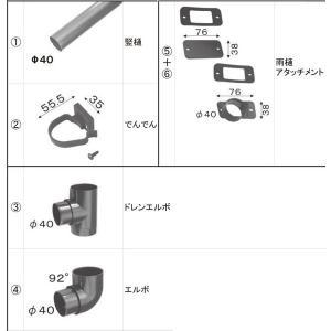 LIXIL メンテナンス部品 TOEXブランド部品 カーポート カーポート雨樋セット 雨樋セット3 カーポート用 :雨樋セット VNU57|tategushop