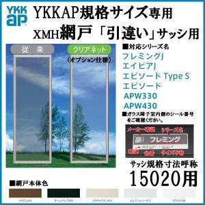 YKKap規格サイズ網戸 引き違い窓用 ブラックネット 呼称15020用 YKK 虫除け 通風 サッシ  引違い窓 アルミサッシ DIY tategushop