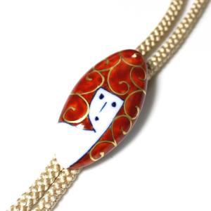 有田焼伊万里焼で知られる陶芸磁器ループタイ。染錦人形紋様。|tatikawa