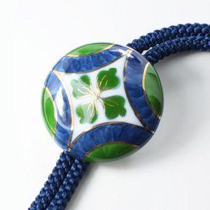 有田焼伊万里焼で知られる陶芸磁器ループタイ。染錦紋様。 tatikawa