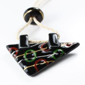 伊万里焼有田焼で知られる陶芸磁器オリジナル紐ネックレス。正絹手組紐ネックレス。|tatikawa