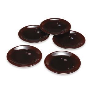 お皿セット おしゃれ ( クラフト池しげ 銘々皿 貝貼梅 溜塗 5枚 セット 15cm ) 和菓子 ...